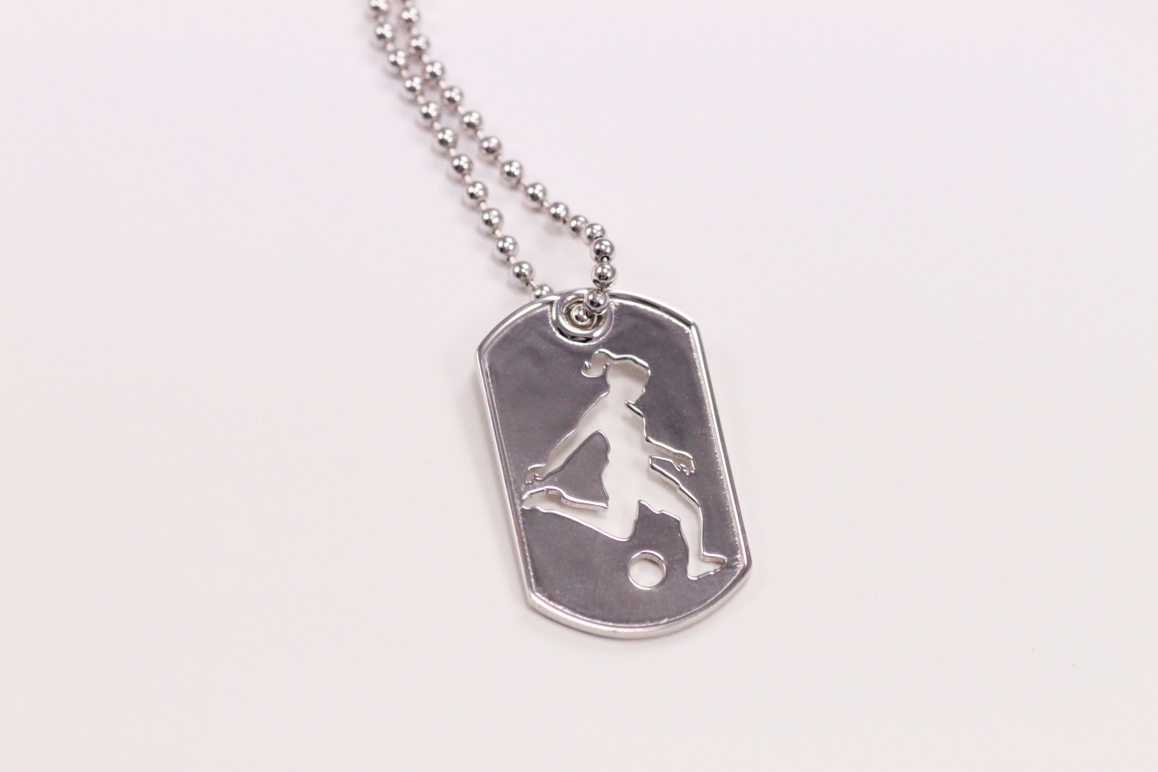 border and silver with daughter soccer dog black pendant products chain gem ball tag